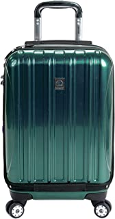 "Delsey Luggage Helium Aero International Carry On Expandable Spinner Trolley 19"" (Teal)"