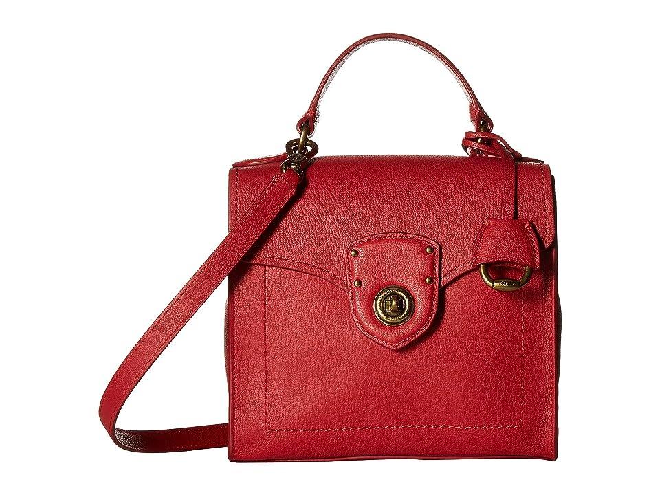 8d236c7b30 LAUREN Ralph Lauren Millbrook Top Handle Crossbody Satchel (Red) Handbags