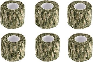 BOROLA 6Pcs Self-Adhesive Protective Camouflage Tape Cling Scope Wrap Military Camo Stretch Bandage for Gun Rifle Shotgun Camping Hunting