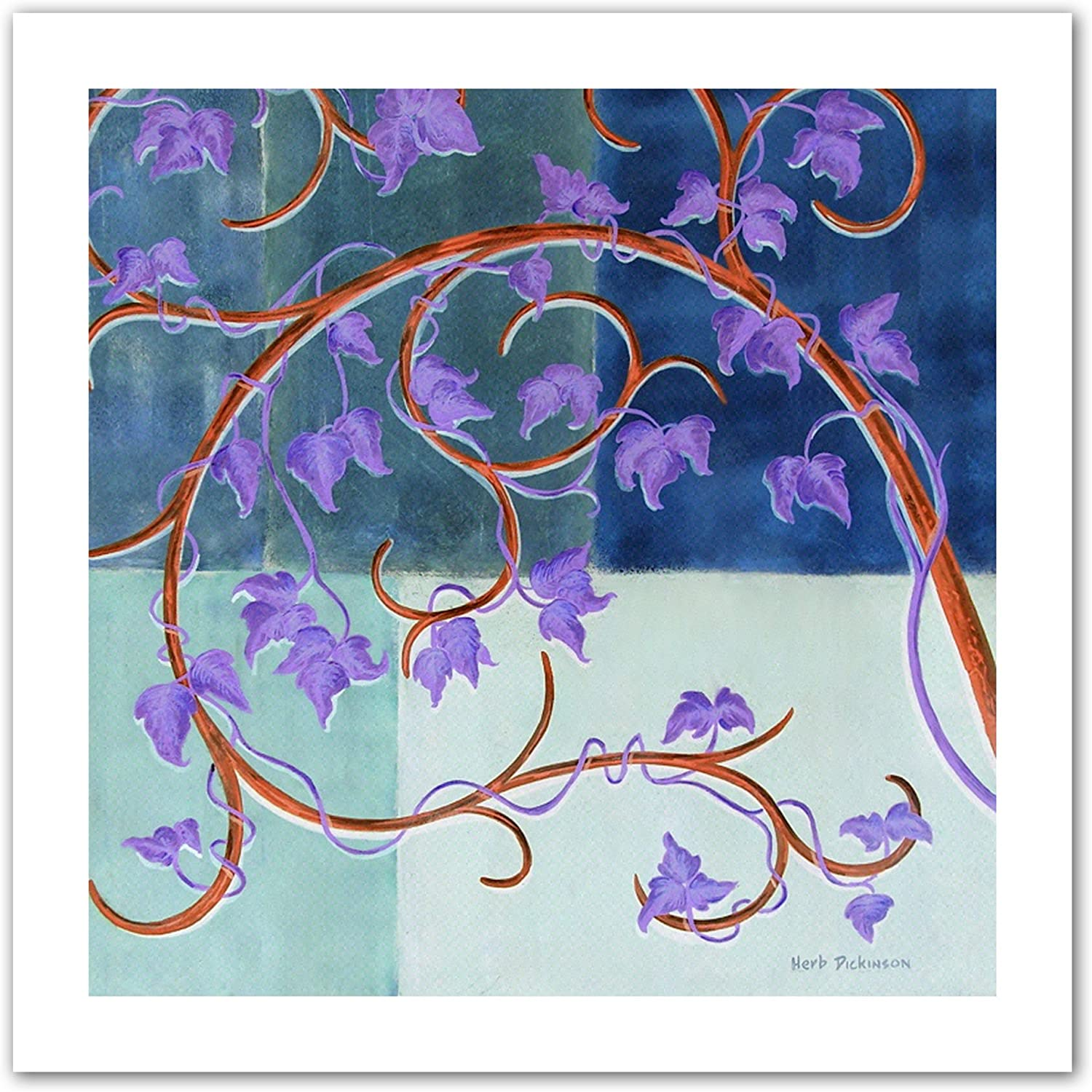 Art Wall bluee Gate by Herb Dickinson Unwrapped Canvas Artwork, 28 by 28Inch