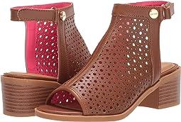 Cognac Block Heel