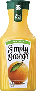 Simply Orange Juice, 52 fl oz, 100% Juice, High Pulp, Not From Concentrate
