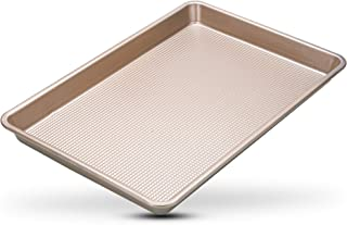 Warp-Resistant Nonstick Jelly Roll Baking Sheet Pan - 10 x 15 Jelly Roll Sheet Pan - Perfect Cookie Sheet For Baking and R...
