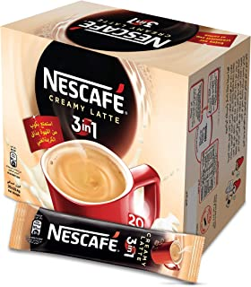 Nescafe 3in1 Creamy Latte Coffee Mix 22.4g, 20 Pieces