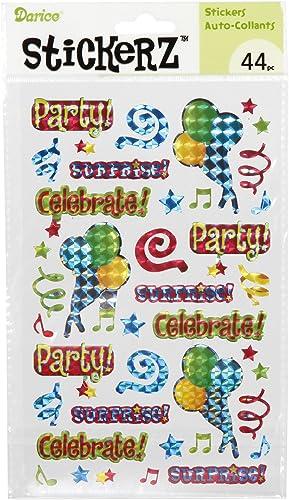de moda Darice Plantilla para Grabar Party Celebrate Pegatinas, Pegatinas, Pegatinas, 5por 8   mejor calidad