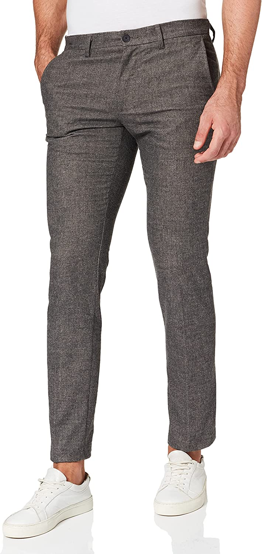 Tommy Hilfiger Bleecker Fake Solid Wool Look Pantalones para Hombre