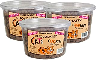 Trader Joe's Low Fat Chocolatey Cats Cookies for People: 3 Count (3 lbs)