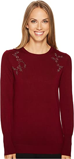 Ivanka Trump - Crew Neck Embelished Sweater