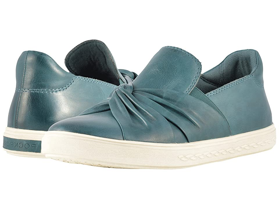 Rockport Cobb Hill Collection Cobb Hill Willa Bow Slip-On (Teal Leather) Women