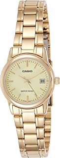 Casio Women's Gold Dial Stainless Steel Analog Watch - LTP-V002G-9AUDF
