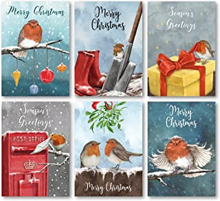 Charity Christmas Cards Pack of 24. Each Christmas Card multipack has 6 different Robin designs. Ecofriendly and UK made. ...