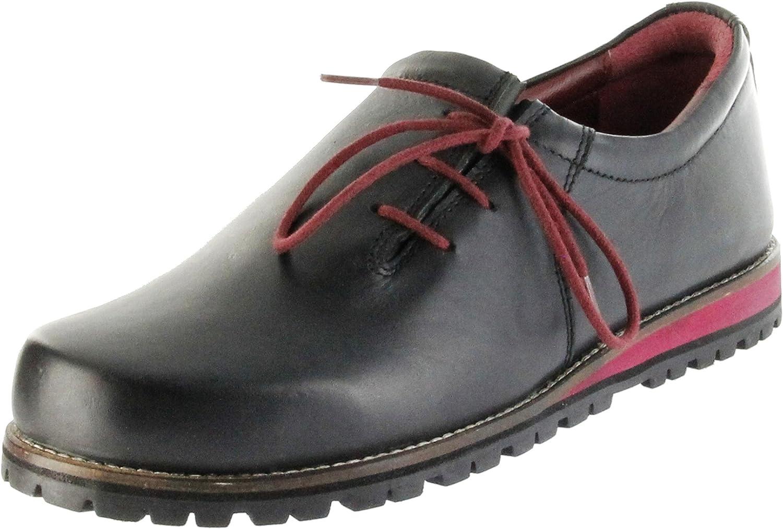 Bergheimer Trachtenschuhe Haferlschuhe schwarz rot Leder Herren Schuhe Fügen