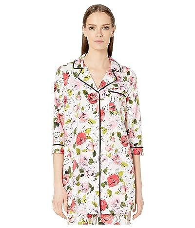 Kate Spade New York Woven Lawn Sleepshirt (Rose Sketch) Women