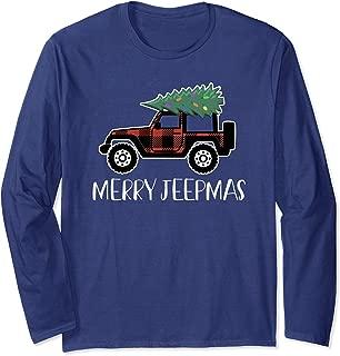 Merry Jeepmas Funny Christmas Jeep Long Sleeve T Shirt
