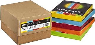 """Astrobrights Color Paper, 8.5"""" x 11"""", 24 lb/89 gsm, Mixed Carton 5-Color Assortment, 250 Sheet Ream/1250 Sheet Carton (22998)"""