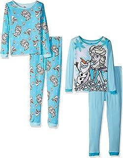 Girls' Frozen 4-Piece Cotton Pajama Set