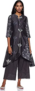 BIBA Women's Asymmetrical Hemline Salwar Suit Set