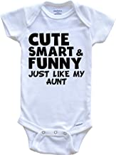 Really Awesome Shirts Cute Smart and Funny Like My Aunt Funny Baby Onesie