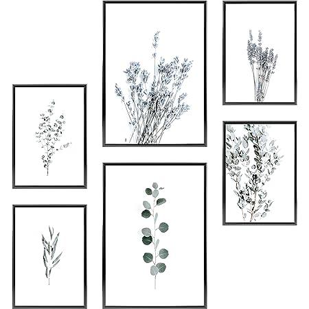 21x30cm Salon Chambre Set de Poster Premium pour la Maison | sans Cadres /» Sun /& Moon /« et 4 x A4 Bureau 30x42cm Heimlich/® Tableau D/écoration Murale Cuisine 2 x A3