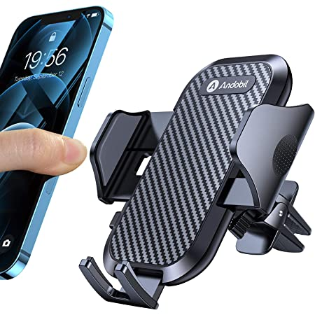 【2021進化版】Andobil 車載ホルダー エアコン スマホホルダー 車「高安定性」 ワンタッチ 片手操作 360度回転 取り付け超簡単 スマホスタンド 自由調節 手帳型ケース対応 4-7インチ全機種対応iPhone Samsung Sony LG Huaweiなど