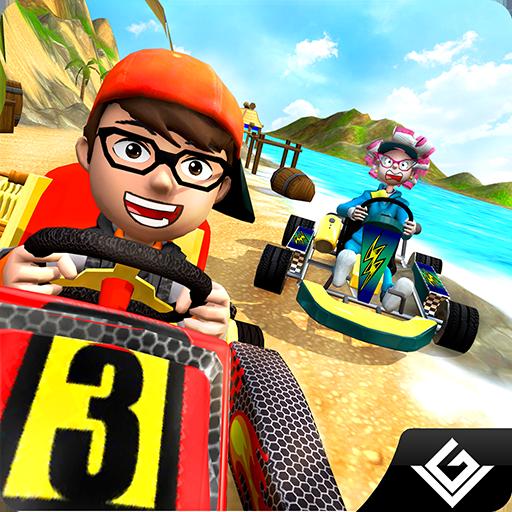 Beach Buggy Racing Parking Simulator 3D: conducción de los reyes de Karts Rush Stunt Mania Max Racer Adventure Mission Games gratis para niños 2018
