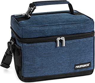 MAZFORCE LongHaul Lunch Bag Insulated Lunch Box - Spacious Pro Performance Adult Lunchbox Built to Withstand your Daily Grind (Lunch Bags Designed in California for Men, Adults, Women - Midnight Blue)