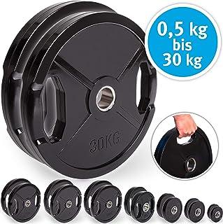 comprar comparacion C.P. Sports Olympiascheiben - Par de Discos de Pesas de Goma, 50/51 mm de diámetro, 1 par de Discos de 0,5 kg - 30 kg, Dis...