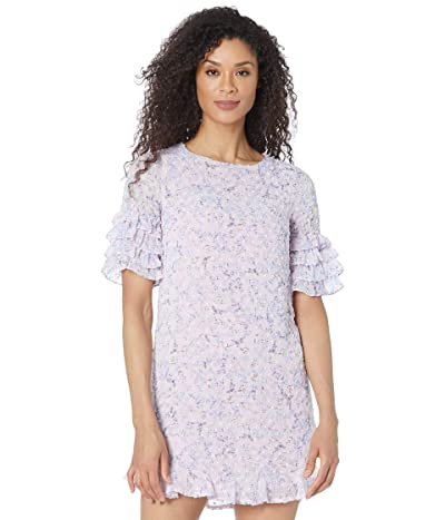 CeCe Tiered Ruffle Sleeve Whispering Blossoms Dress
