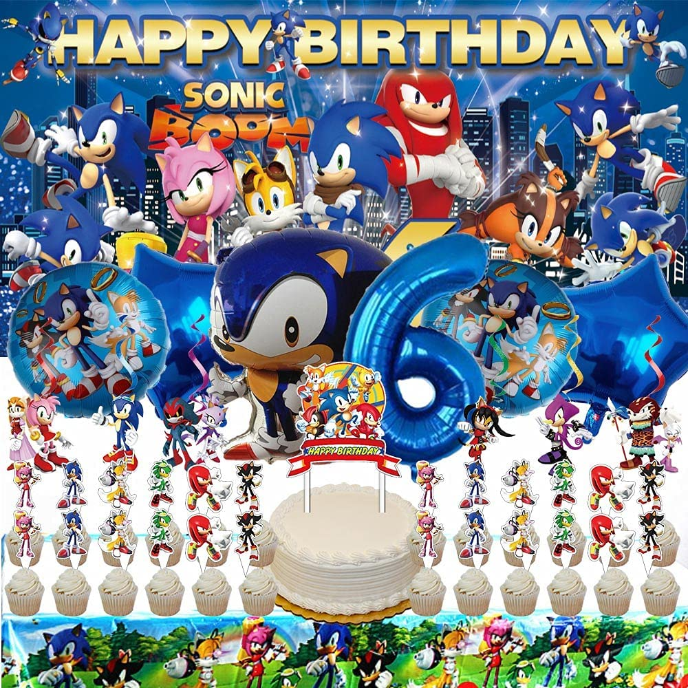 Sonic 6th Party Max 70% OFF Supplies Cheap mail order sales The Six 6 Sixth Hedgehog