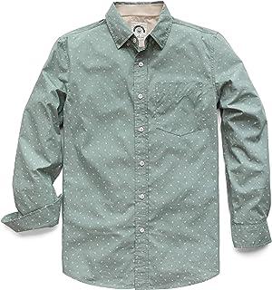 Dubinik Camisa de Popelina de Manga Larga para Hombre de Corte Regular Azul Azul
