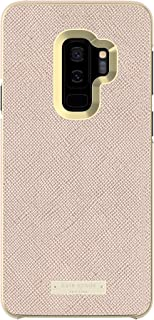 kate spade new york Wrap Case for Samsung Galaxy S9 Plus - Rose Gold Saffiano Rose Gold/Gold Logo Plate