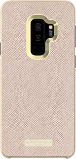 kate spade new york Wrap Case for Samsung Galaxy S9 Plus - Rose Gold Saffiano Rose Gold / Gold Logo Plate