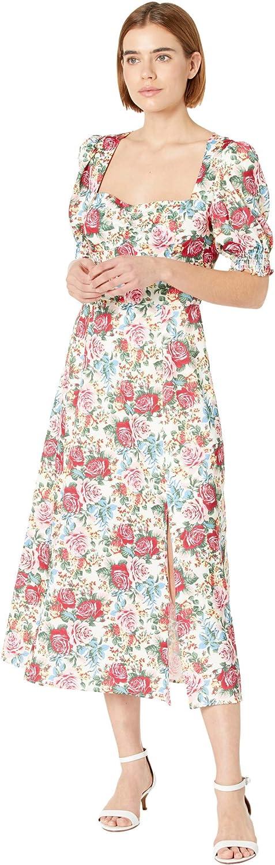 WAYF Beatrix Short Sleeve Bustier Midi Dress