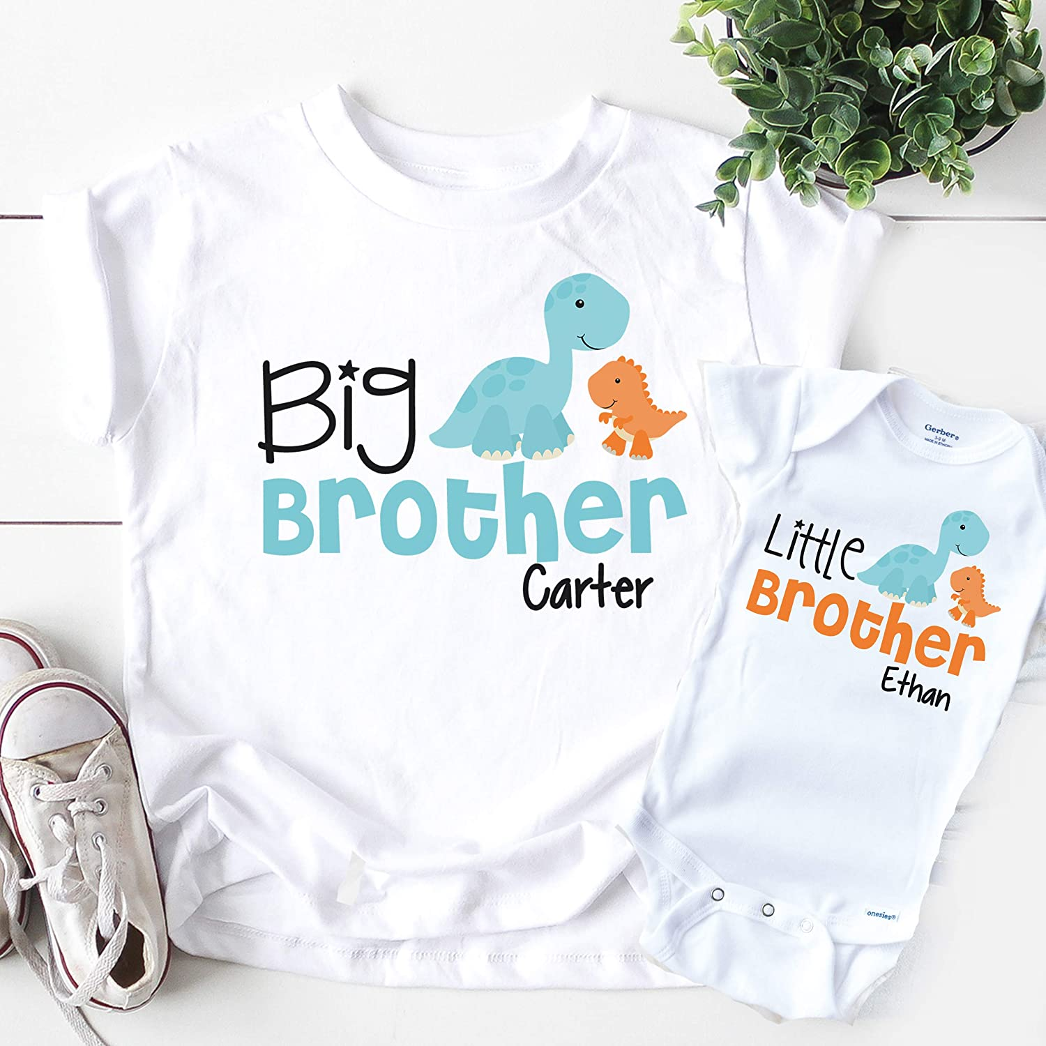 Big Super-cheap Brother Little Shirt Popularity Personalized Dinosaur Boy