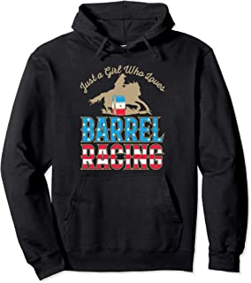 Just A Girl Who Loves Barrel Racing Cowgirl Rodeo Rider Pullover Hoodie