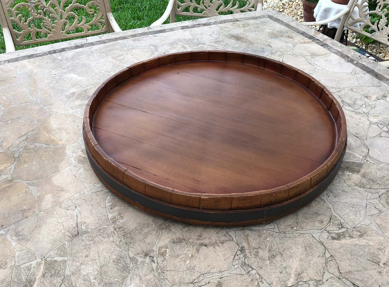Wine Popularity Barrel Extra Lazy Susan Opening large release sale Large