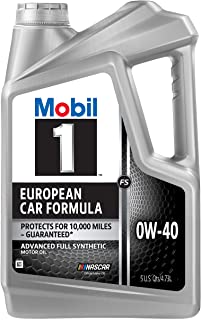 Mobil 1 FS European Car Formula Full Synthetic Motor Oil 0W-40, 5 Quart