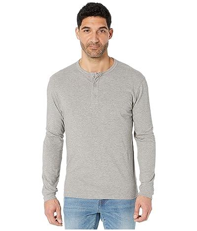 The Normal Brand Slub Long Sleeve Henley (Grey) Men