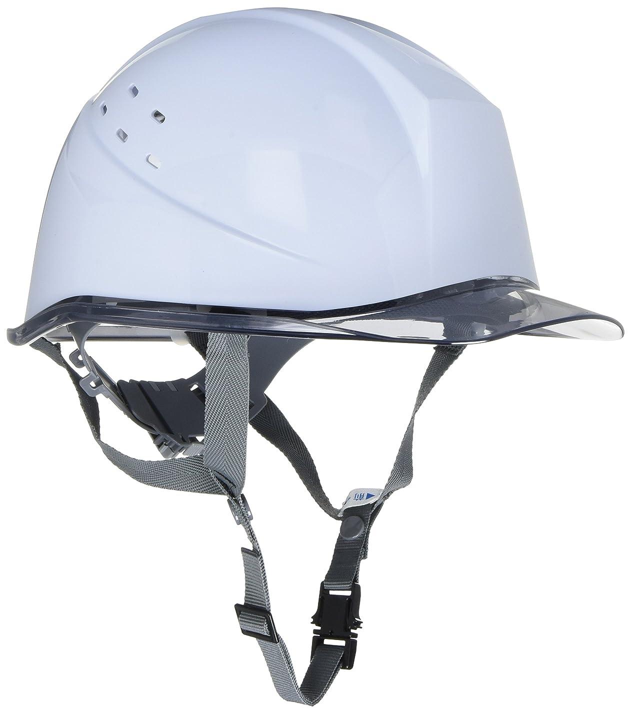 ミドリ安全 ヘルメット クリアバイザー 通気孔付 SC11PCLV RA KP付 ホワイト/スモーク