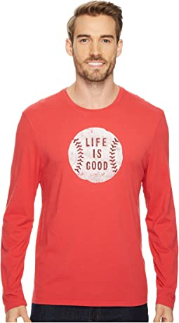 Vintage Baseball Life Is Good® Long Sleeve Smooth Tee