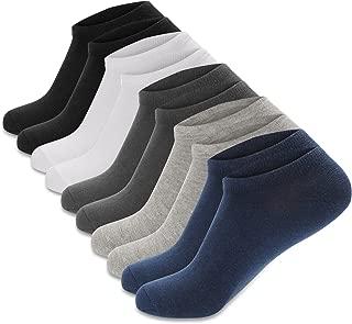 5-10 Paires Hommes Invisible Chaussettes Coton Confortable Respirant Gel de Silice Anti-Dérapant Chaussettes