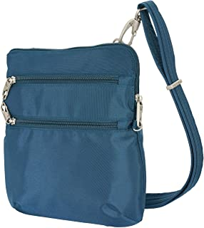 Travelon Anti-Theft Classic Slim Dbl Zip Crossbody Bag (Peacock)