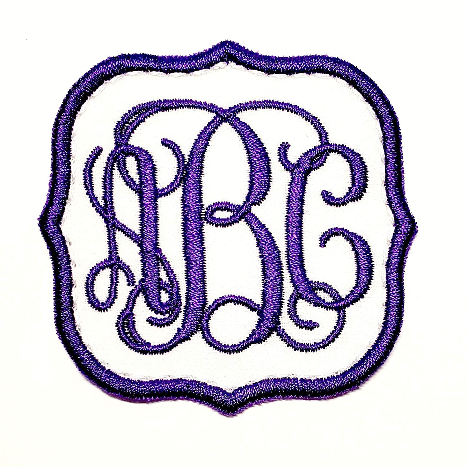 Monogram Vine Font Patch Iron-on Sew-on Embroidered Applique or low-pricing High quality