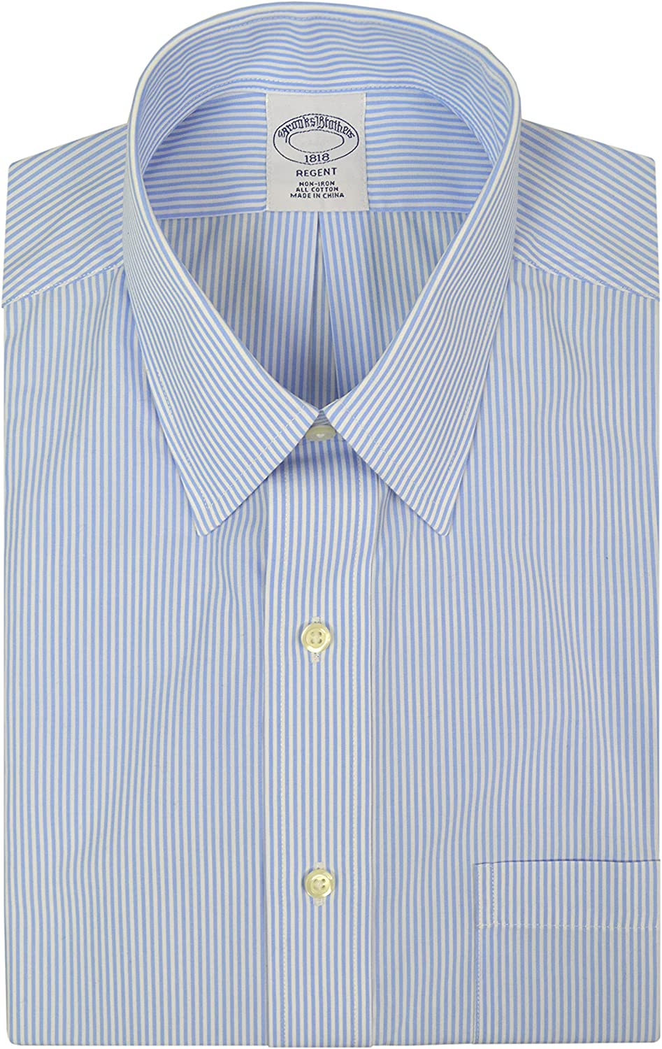 Brooks Brothers Men's Regent Store Fit OFFicial mail order Cotton Mix Shirt Dress Iron Non