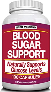 Blood Sugar Support - Naturally Supports Glucose & Immunity - 100 Capsules with 25 Natural Multivitamins for Better Blood ...