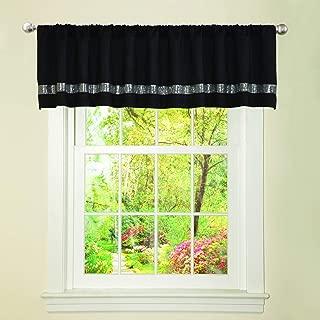 Lush Decor Night Sky Curtain Valance (Single Panel), Black and Gray