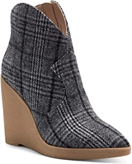 Jessica Simpson Women's Crais Bootie Ankle Boot, Black/White, 6.5