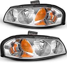 For 2000-2005 Chevy Impala Headlights Replacement 00-05 Headlamps/Light OEDRO Chrome Housing Amber Side & Clear Lens Left+Right, 2-Yr Warranty