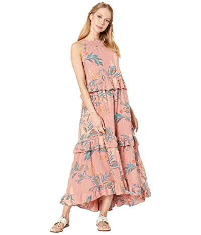 Free People Anita Printed Maxi (Mauve) Women