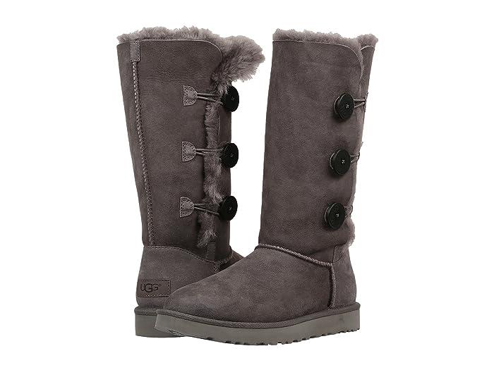 UGG Bailey Button Triplet II (Grey) Women's Boots